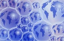 玻璃地球 免版税库存图片