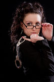 玻璃夫人桎梏年轻人 免版税图库摄影