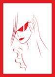 玻璃妇女 向量例证