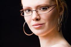 玻璃妇女 免版税库存图片