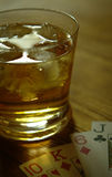 玻璃威士忌酒 库存照片