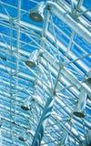 玻璃屋顶管材透气 免版税库存图片