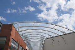 玻璃屋顶钢 免版税库存图片