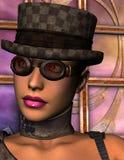 玻璃帽子妇女 向量例证