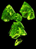 玻璃徽标放射线铀 库存照片