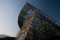 玻璃房子 免版税库存照片