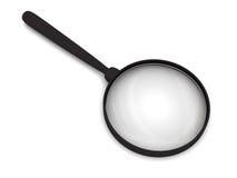 玻璃扩大化的影子软绵绵地 免版税库存图片