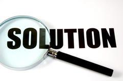 玻璃扩大化的解决方法文本 免版税库存图片