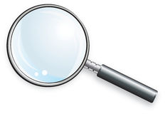 玻璃扩大化 免版税库存图片