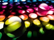 玻璃抽象背景的球 免版税库存图片