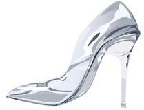玻璃拖鞋 免版税库存图片