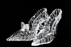 玻璃拖鞋 库存照片