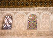 玻璃摩洛哥被弄脏的视窗 库存照片