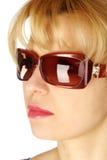 玻璃星期日妇女 免版税图库摄影