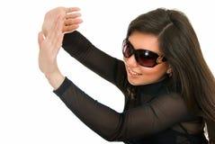 玻璃星期日妇女 库存图片