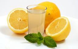 玻璃柠檬水射击 库存图片