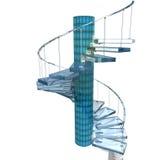 玻璃楼梯 向量例证