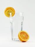 玻璃橙色水 免版税库存图片