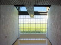 玻璃正方形 E 免版税库存图片