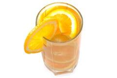 玻璃水多的桔子 库存图片