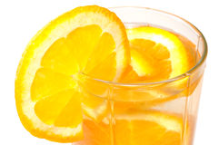 玻璃水多的桔子 免版税库存照片