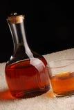 玻璃水瓶威士忌酒 库存照片