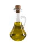 玻璃水瓶油向日葵 库存照片