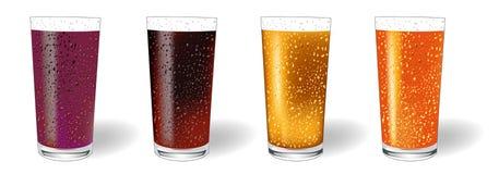 玻璃汁液向量 库存图片