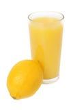 玻璃汁液柠檬 库存照片