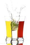 玻璃汁液柠檬 免版税库存图片