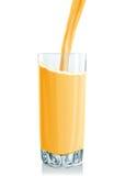 玻璃汁液桔子流 库存例证