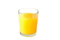 玻璃汁液桔子 库存图片