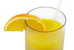 玻璃汁液桔子 免版税库存图片