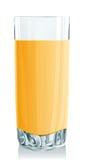 玻璃汁液桔子 向量例证