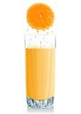 玻璃汁液桔子 库存例证