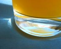 玻璃汁液橙色高 免版税库存照片