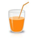 玻璃汁液 库存例证
