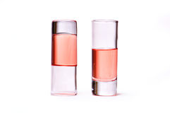 玻璃液体桃红色稀薄 库存照片