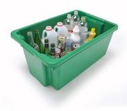 玻璃液塑料回收 免版税库存照片