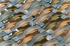 玻璃混杂的马赛克石头 免版税图库摄影