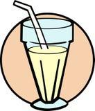玻璃牛奶奶昔震动香草向量 库存照片