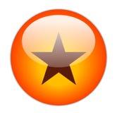 玻璃状图标红色星形 免版税库存图片