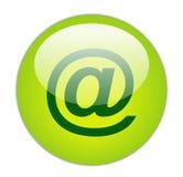 玻璃状绿色图标费率 免版税库存照片