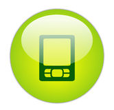 玻璃状绿色图标pda 库存图片