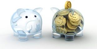 玻璃猪二 免版税图库摄影