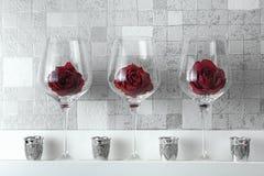 玻璃玫瑰 免版税库存图片