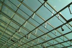 玻璃现代屋顶 免版税库存照片