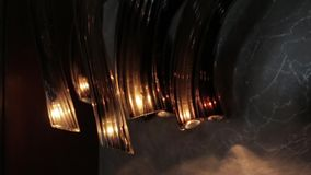 玻璃现代枝形吊灯 股票视频
