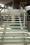 玻璃现代楼梯 库存图片