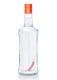 玻璃瓶俄语伏特加酒 向量例证